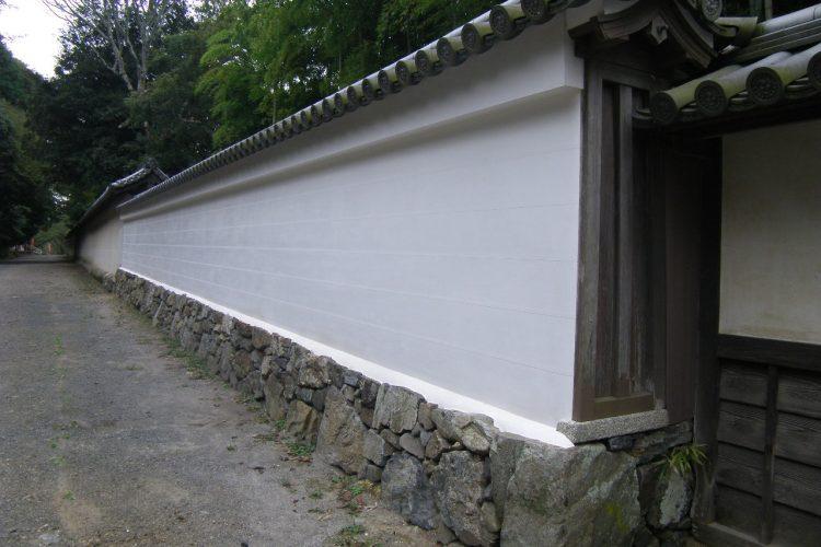 史跡 醍醐寺史跡等・登録記念物・歴史の道保存整備事業 理性院東側土塀修理工事